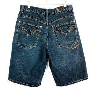 MAKAVELI BRANDED Jean Shorts Long 34